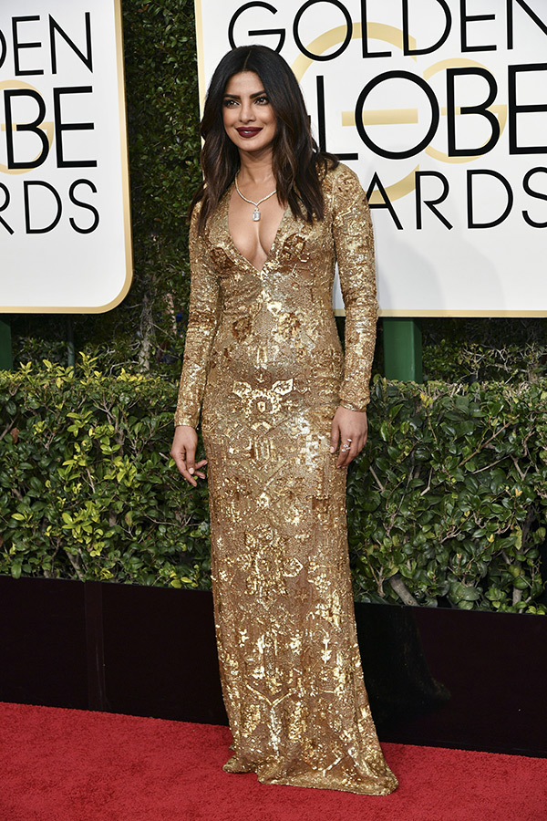 Priyanka Chopra Dress Golden Globes