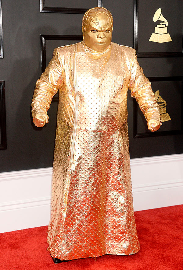CeeLo Green Gold Grammys Outfit