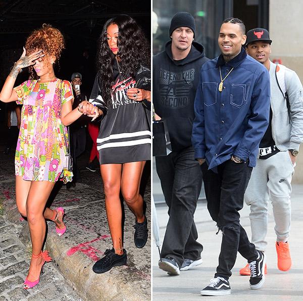 Chris Brown Flirts Rihanna Friend