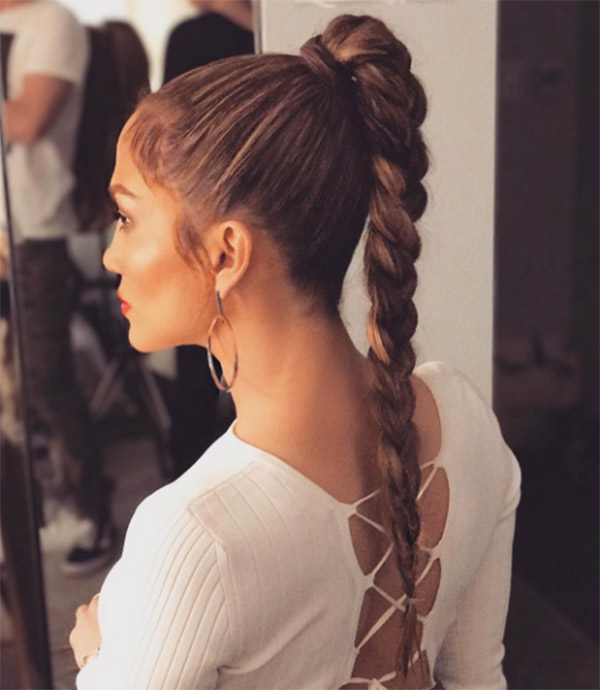 Pic Jennifer Lopez S Long Braid How To Copy Her Look With Drugstore Products Hollywood Life