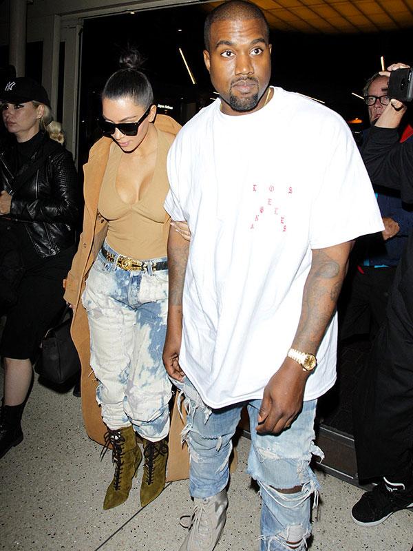 Kanye West Kim Kardashian Paris