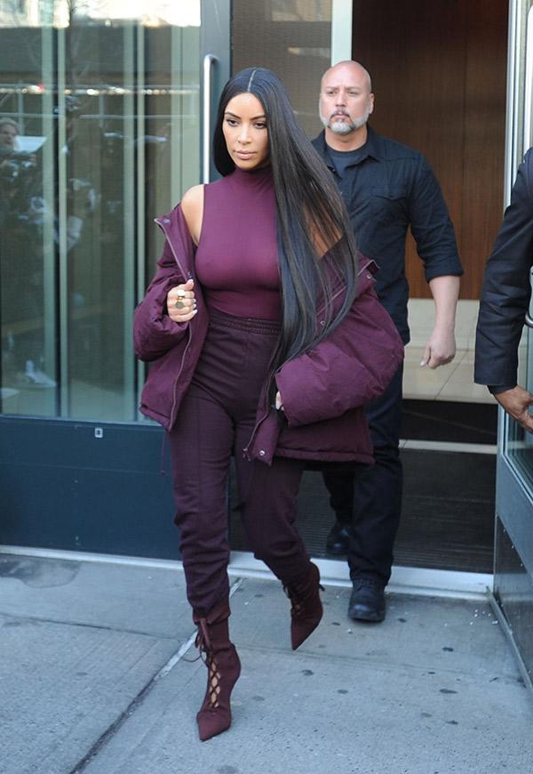 kim kardashian yeezy show outfit
