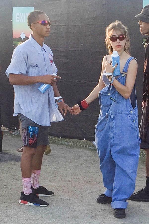 Odessa Adlon Jaden Smith Hold Hands Coachella