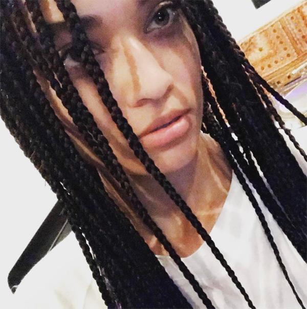 Shanina Shaik Braids Coachella