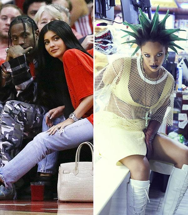 Travis Scott Kylie Jenner Rockets Game Rihanna