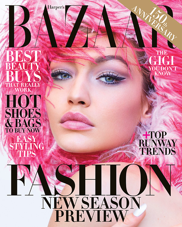 Gigi Hadid S Pink Makeup On Harper S Bazaar How You Can Get Her Look Hollywood Life