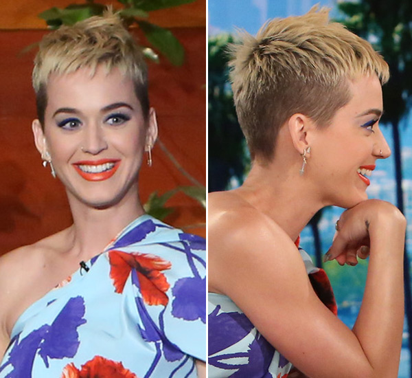 Katy Perry Chopped Her Hair Off Because Of Too Much Bleach Explains On Ellen Hollywood Life