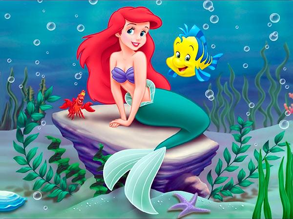 little mermaid ariel flounder