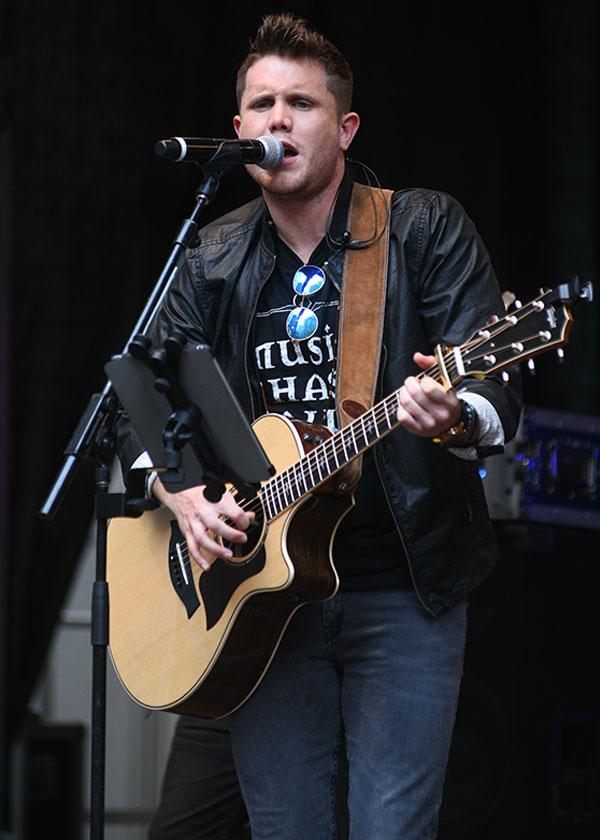 Trent Harmon Performing