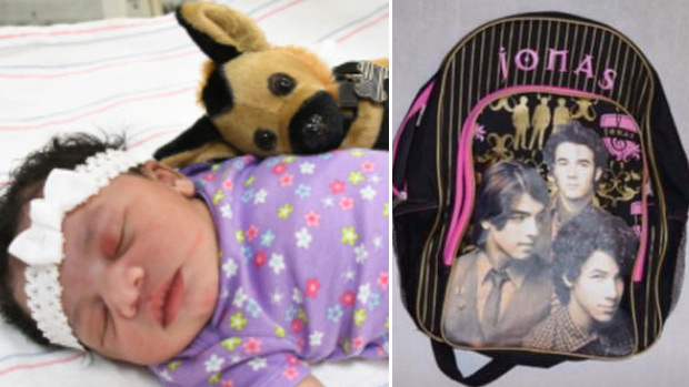 Unnamed baby girl who was abandoned in a Jonas Brothers backpack