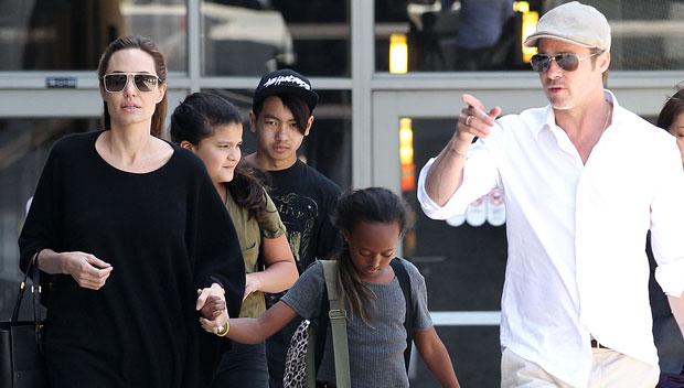 Angelina Jolie, Brad Pitt & Kids