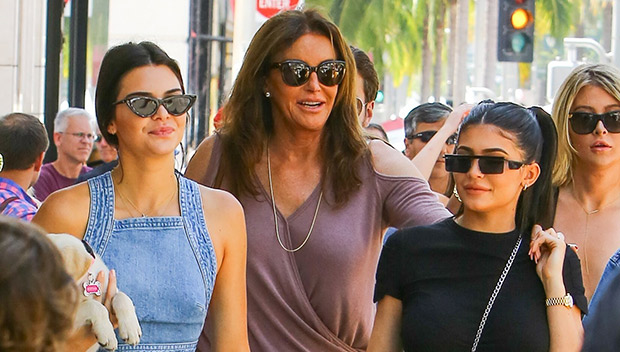 Kendall and Kylie Jenner on Fathers Day with Caitlyn Jenner