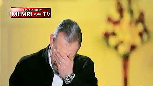 TV reporter breaks down in tears
