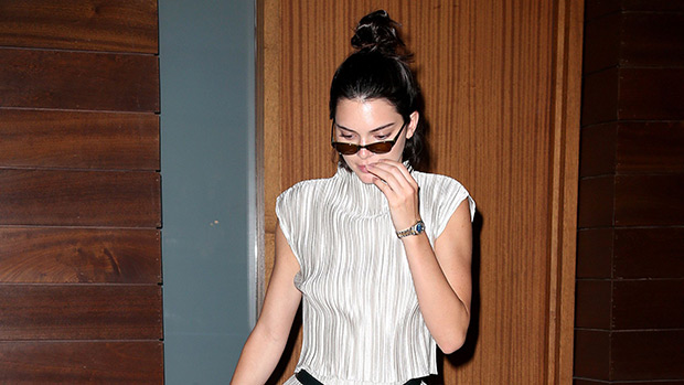 kendall jenner shopping bag jumpsuit nyc