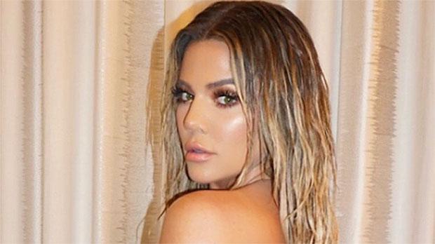Khloe Kardashian wet hair
