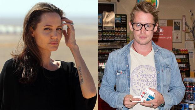 Angelina Jolie and Macaulay Culkin