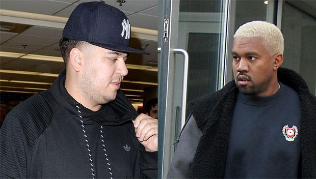 Kanye Wesr and Rob Kardashian
