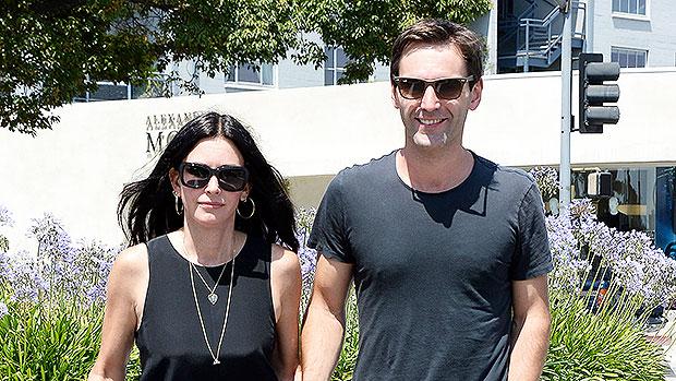 Courteney Cox with her boyfriend Johnny McDaid