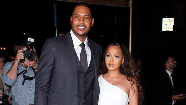 Carmelo and La La Anthony