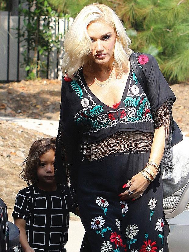 Gwen Stefani in a flowy dress