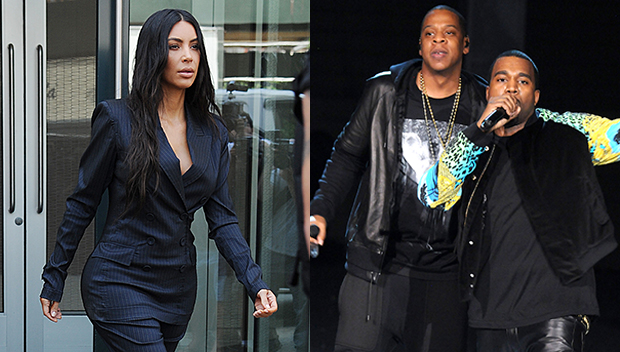 Kim Kardashian Kanye West Jay-Z