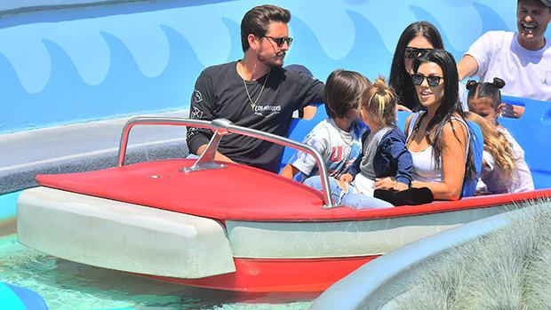Scott Disick, Kourtney Kardashian, and their kids