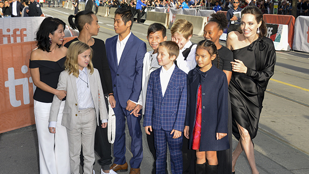 Angelina Jolie with her kids at TIFF
