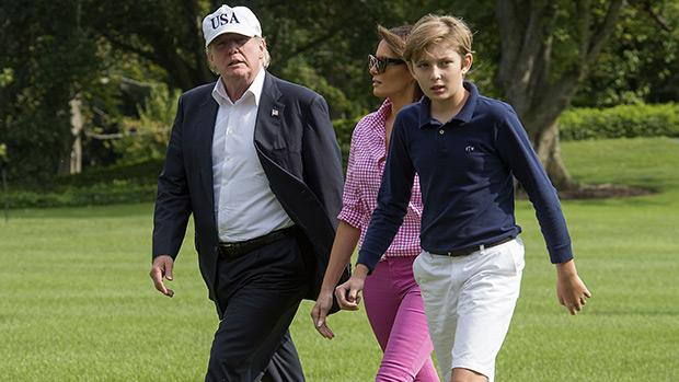 Donald, Melania & Barron Trump at Camp David