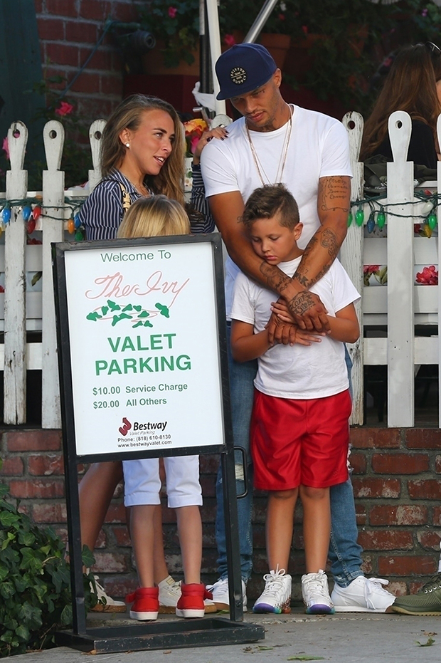 Jeremy Meeks and Chloe Green with Jeremy's son