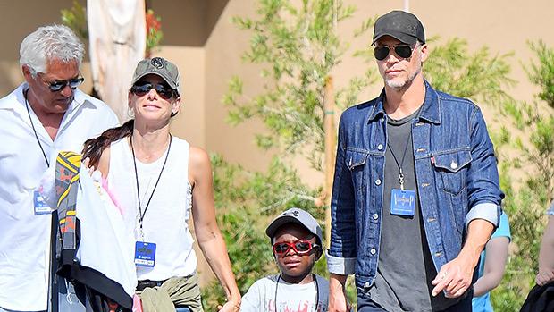 Sandra Bullock and Bryan Randall with Louis