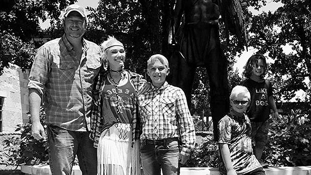Blake Shelton with Gwen Stefani's sons