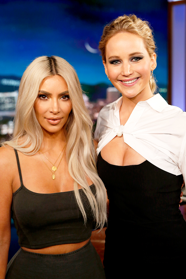Kim Kardashian & Jennifer Lawrence on 'Jimmy Kimmel Live!'