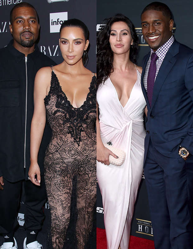 Kanye West, Kim Kardashian, Lilit Avagyan, Reggie Bush