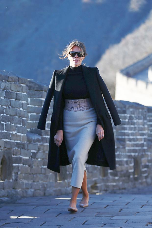 Melania Trump at Great Wall of China