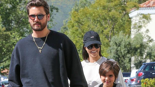 Scott Disick and Kourtney Kardashian with their kids
