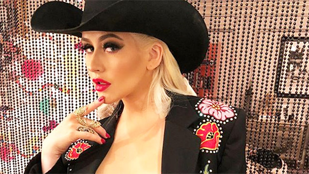 Christina Aguilera In Cowgirl Outfit