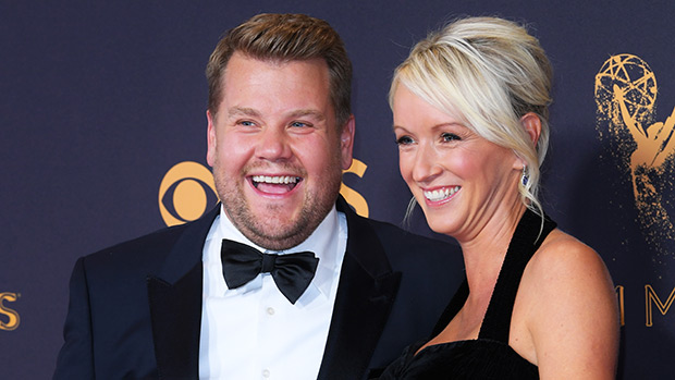 James Corden with his wife Julia