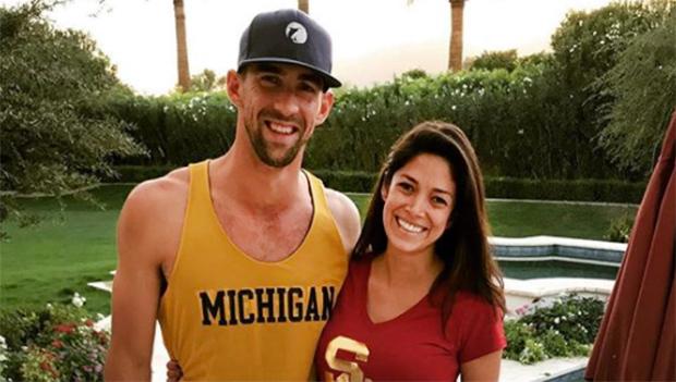 Nicole Johnson and Michael Phelps
