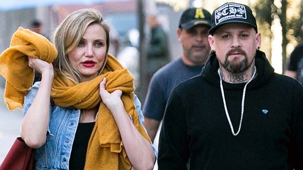 "Cameron Diaz with an alleged ""baby bump"""