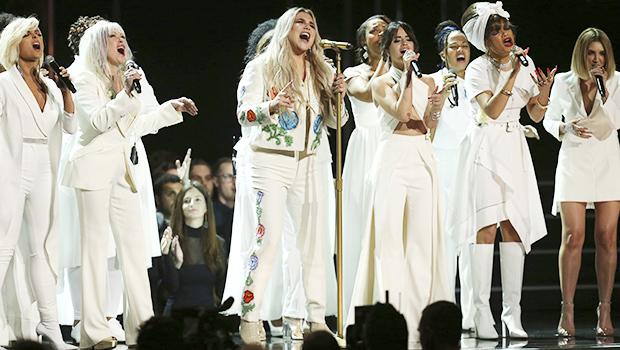 Kesha Performing At The 2018 Grammys