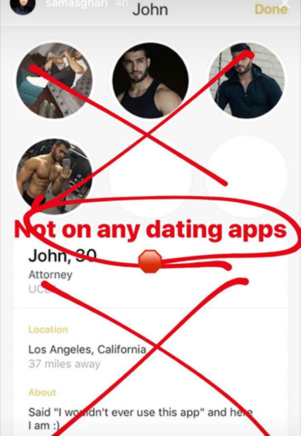 Sam Asghari dating app