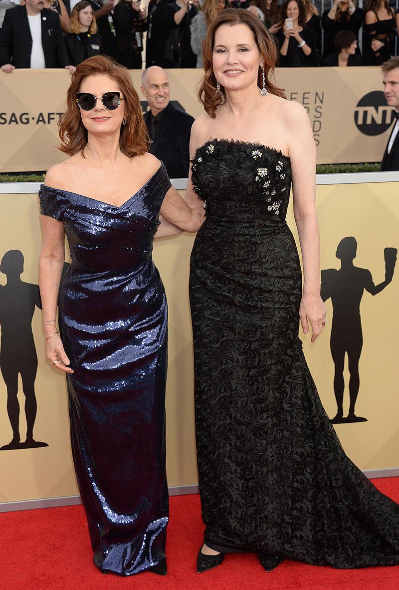 Susan Sarandon Geena Davis Reunion SAG Awards