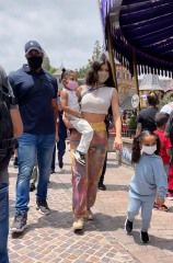 Kylie Jenner and Travis Scott hit Disneyland with Stormi. The A-list duo visited the 'happiest place on earth' on Wednesday with their toddler daughter, drawing attention from crowds as they made their way through the parks.  Pictured: Kylie Jenner,Stormi,Dream Ref: SPL5227649 180521 NON-EXCLUSIVE Picture by: SplashNews.com  Splash News and Pictures USA: +1 310-525-5808 London: +44 (0)20 8126 1009 Berlin: +49 175 3764 166 photodesk@splashnews.com  World Rights