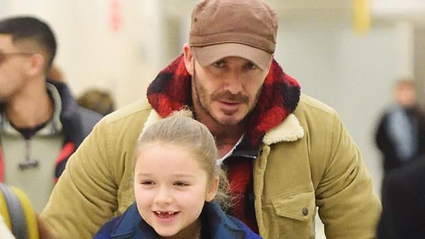 David Beckham with his daughter Harper Beckham