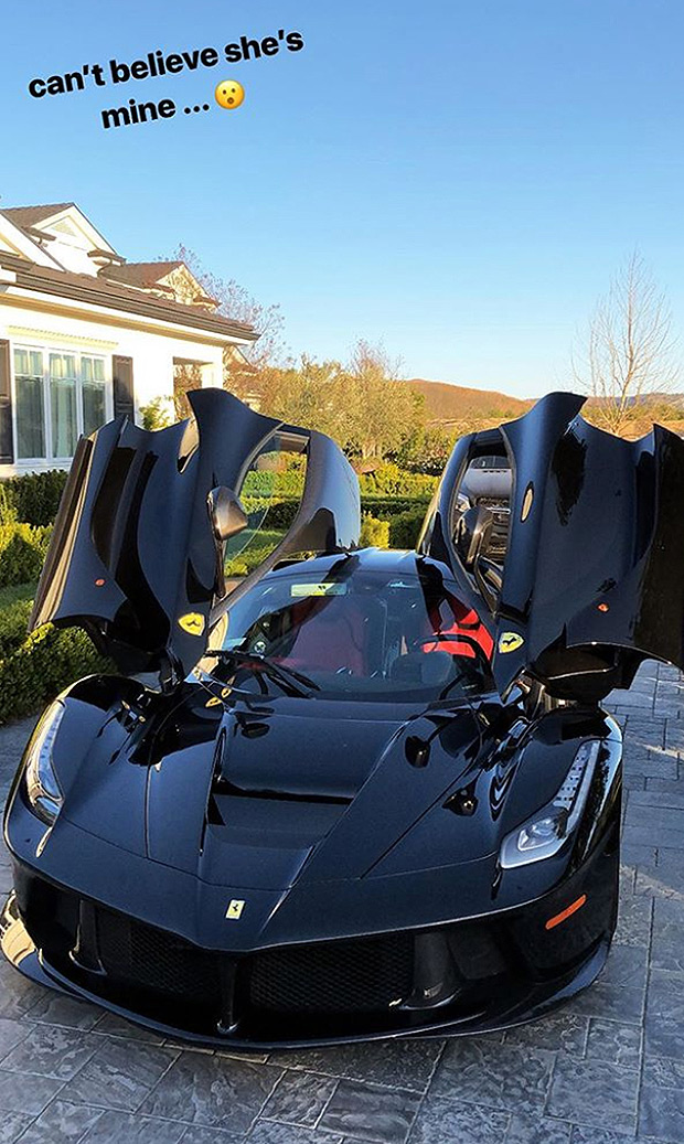 Kylie Jenner's push present, a Ferrari