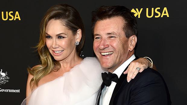 Robert Herjavec with his pregnant wife, Kym Johnson