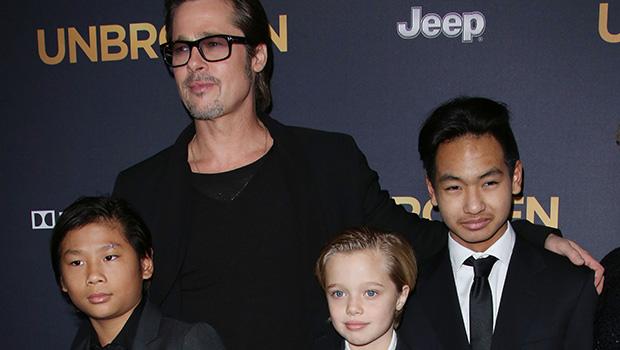 Brad Pitt Seeing His Kids