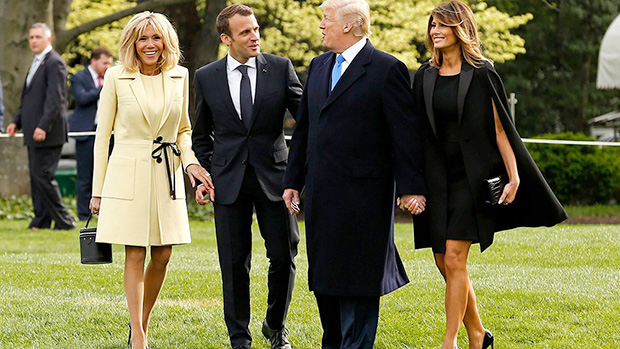 Brigitte Macron Melania Trump Coats