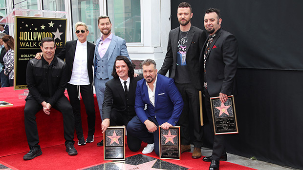 NSync Hollywood walk of fame star ceremony