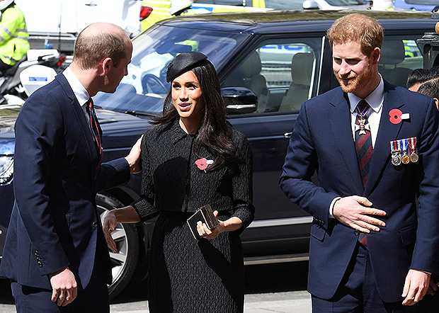 Prince William, Meghan Markle, and Prince Harry on Anzac Day